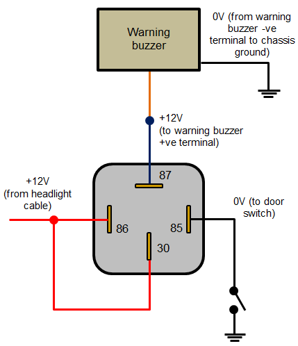 Headlights_left_on_warning_buzzer 12v relay switch wiring diagram,12 Volt Headlight Switch Wiring Diagram