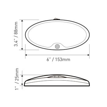12V DC LED Single Pancake Light RV Boat Yacht Ceiling