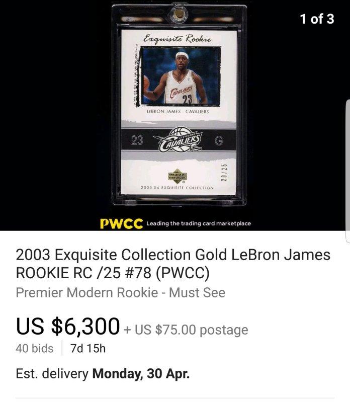 2003-Upper-Deck-Exquisite-LeBron-James-Gold-RC