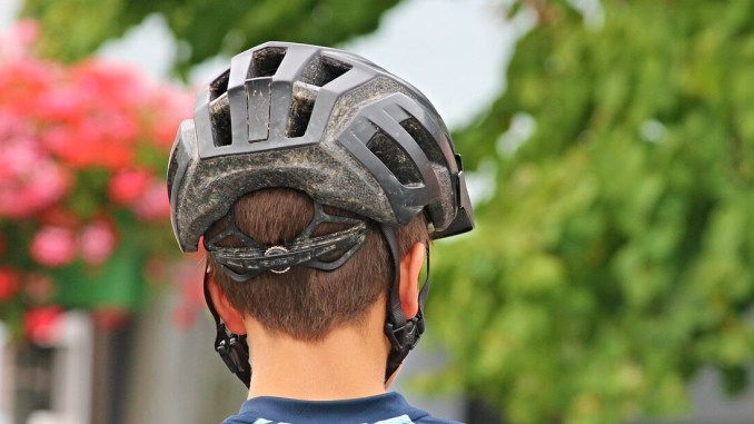 Photo d'un casque de vélo