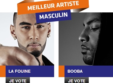 Booba opposé à La Fouine au Trace Urban Music Awards