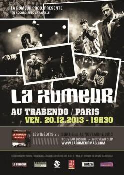 La Rumeur : Les inédits 2 + Concert au Trabendo le 20.12.13