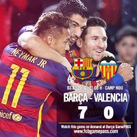 Barcelone vs Valence : 7-0 (résumé vidéo)