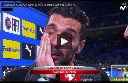 Buffon en larmes après l'échec de l'Italie face à la Suède !