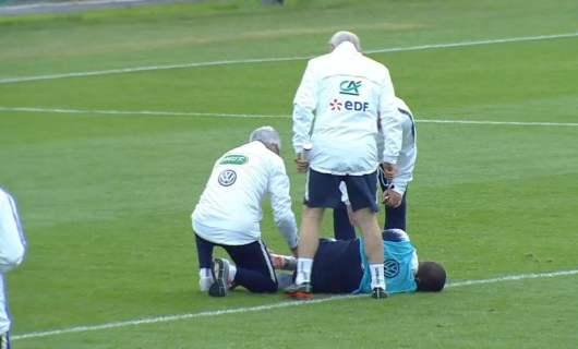 Kylian Mbappé blessé à l'entraînement dans un contact avec Adil Rami !