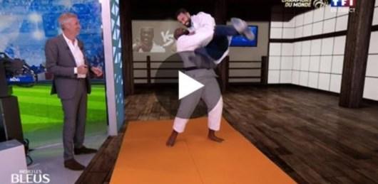 Adil Rami face à Teddy Riner sur le tatami ! (Vidéo)