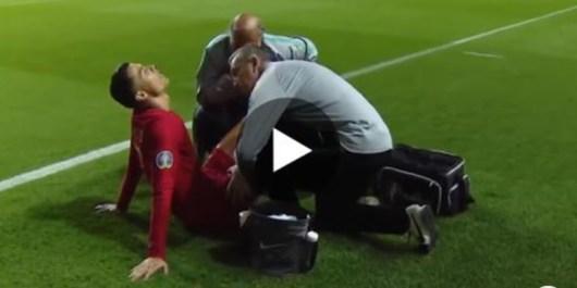 Cristiano Ronaldo se blesse avec Portugal ! (Vidéo)