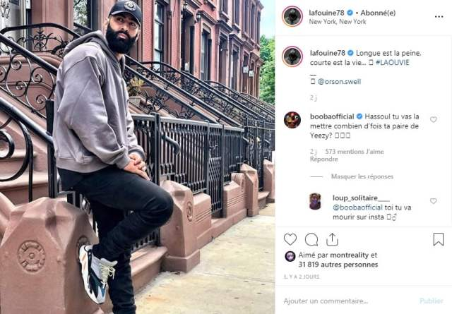 La Fouine encore attaqué par Booba sur Instagram !