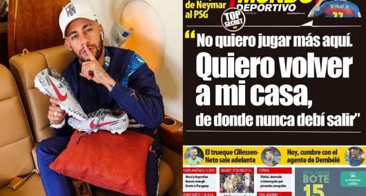 Neymar aurait demandé son départ du PSG et pourrait retourner au Barca !