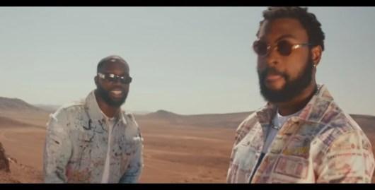 Damso et Vegedream dans le désert pour le clip Personne !