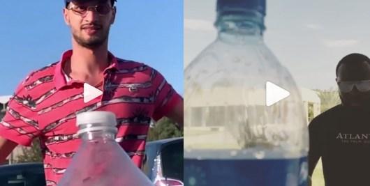 Après Booba, Maitre Gims et Soolking tentent le Bottle Cap Challenge !