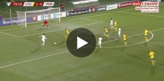 Cristiano Ronaldo assomme la Lituanie à avec un quadruplé [Vidéo]