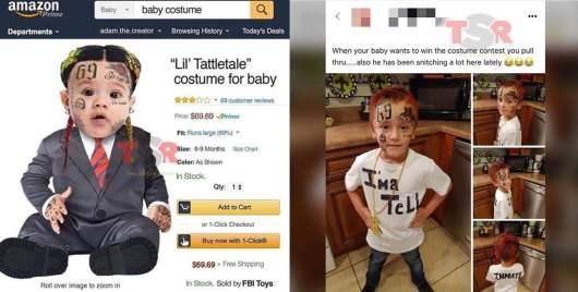 6ix9ine : Les déguisements d'Halloween de balance à son effigie font un véritable carton §
