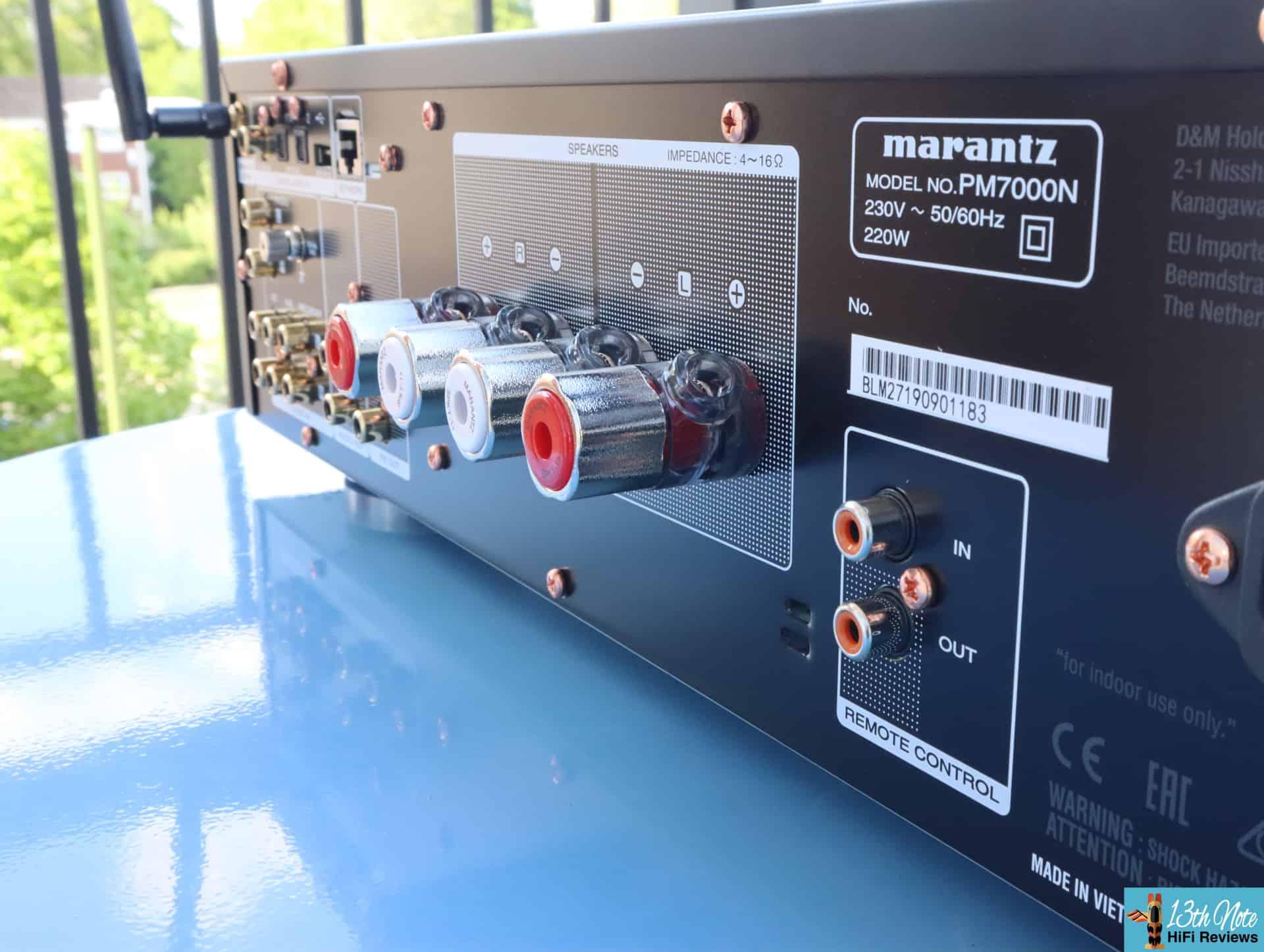 Marantz PM7000N Review - rear connections