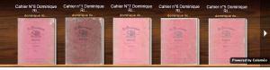 Lecture des 8 cahiers originaux