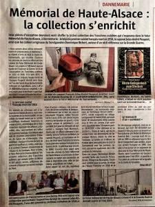 Mémorial de Haute-Alsace : la collection s'enrichit