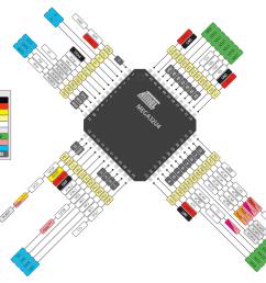 atmel atmega32u4 pinout diagram  [ 1116 x 787 Pixel ]