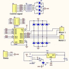 Diagram Motor Control Wiring Hagstrom Super Swede Driving The L298n H Bridge With 2 To 4 Dc Motors 14core Com L298 Dual Driver Schematics