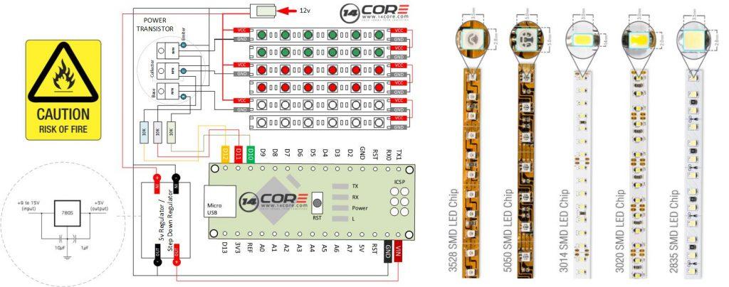 5050 rgb led strip wiring diagram nitrous 3014/3020/2835/5050/ analog with mcu | 14core.com ideas converts reality