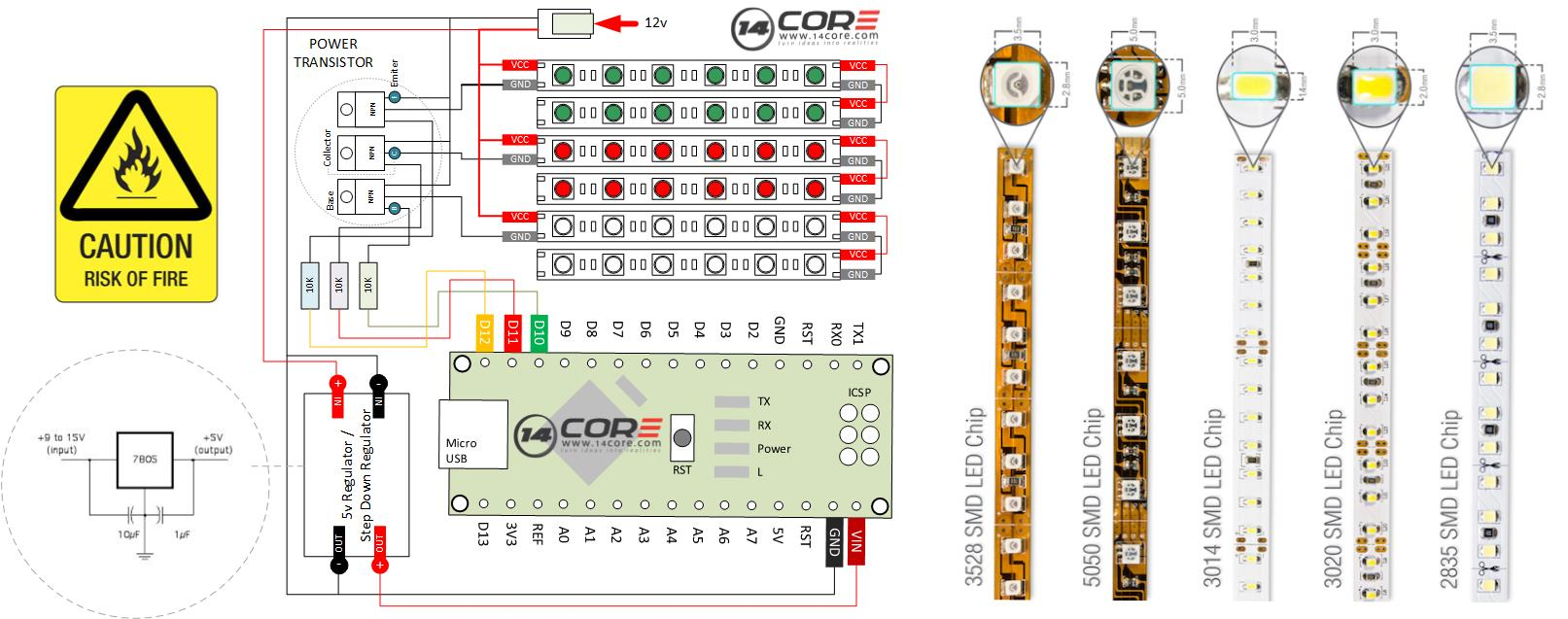 hight resolution of arduino led strip wiring diagram 5050 rgb analog