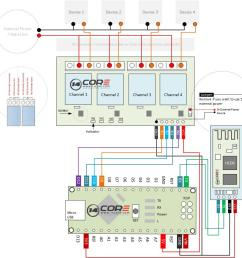 wiring the bluetooth hc06 4 channel relay switching with arduino uno circuit diagram maker arduino uno r3 circuit diagram [ 947 x 918 Pixel ]