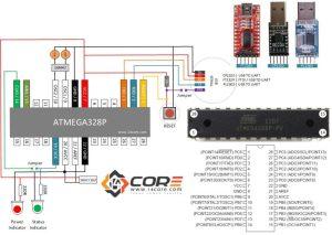 Wiring a Stand Alone ATMEGA328P CMOS 8Bit Microcontroller   14core