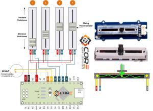 Wiring Multiple Sliding Potentiometer on Microcontroller