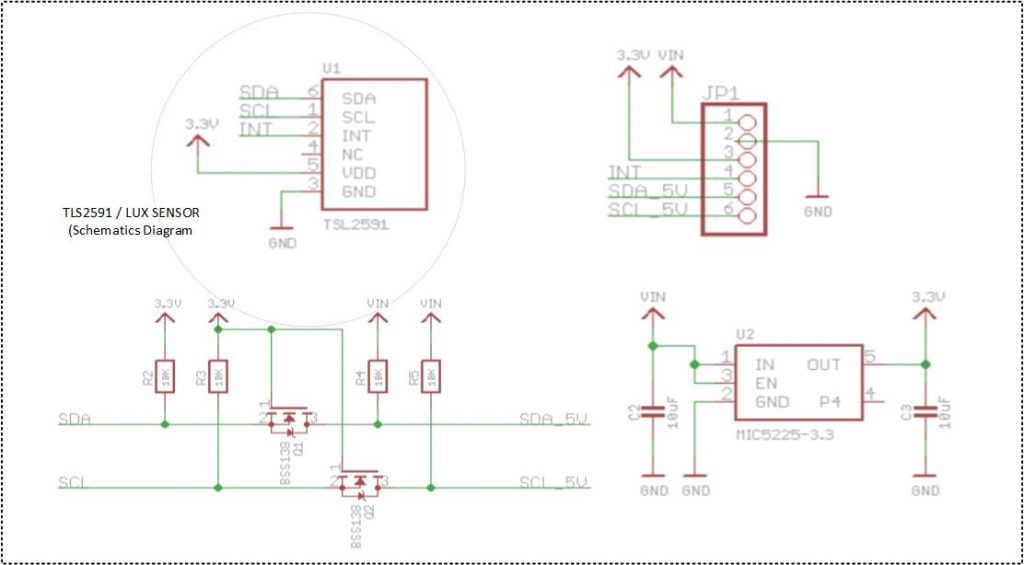 Wiring the TLS2591 High Range LUX / LIGHT Intensity