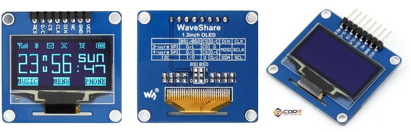 mobile home wiring diagram airplane wing parts oled 128×64 1.3 inch display on spi, i2c | 14core.com ideas converts reality