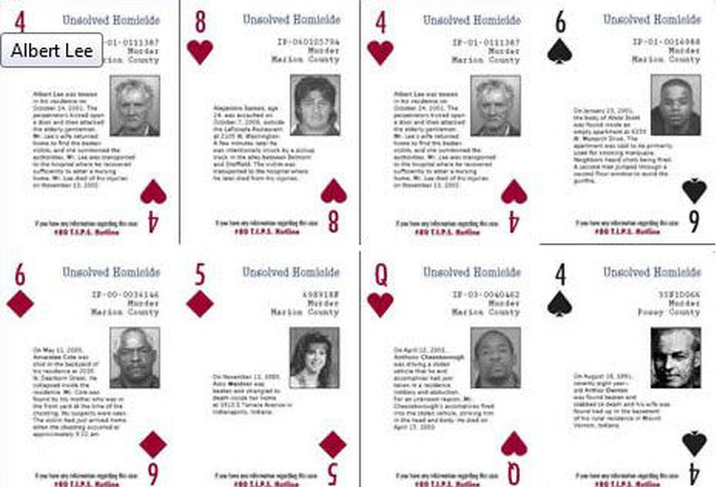 Could Evansville Cold Cases Be Solved With A Deck Of Cards
