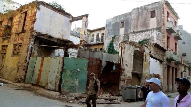 Derrumbe en La Habana (Foto Silvia Corbelle)