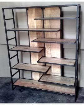 meuble etageres bois et metal