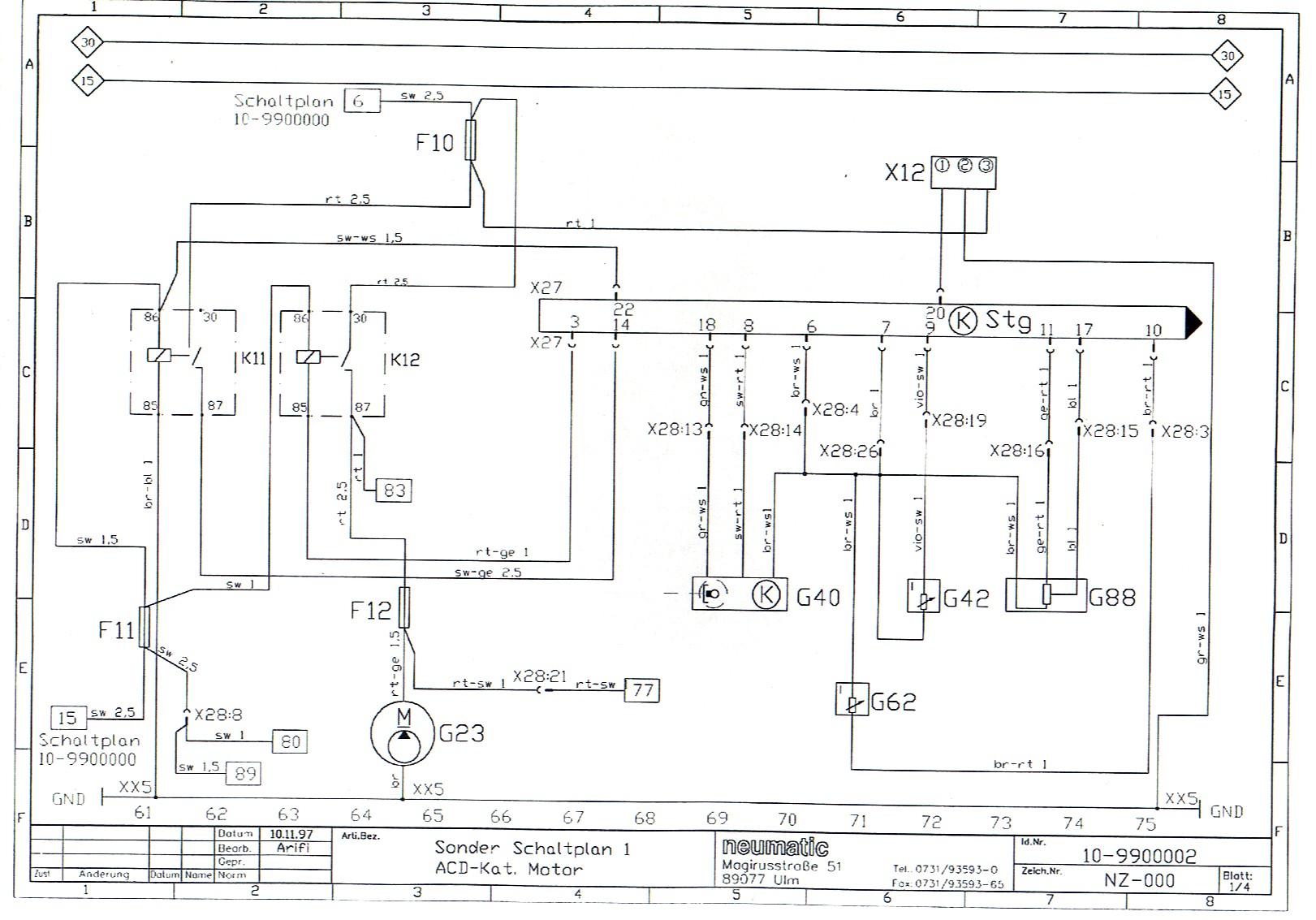 Schaltplan Motor