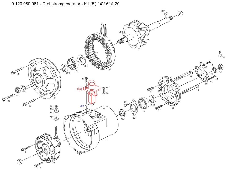 alternator wiring diagram vw beetle