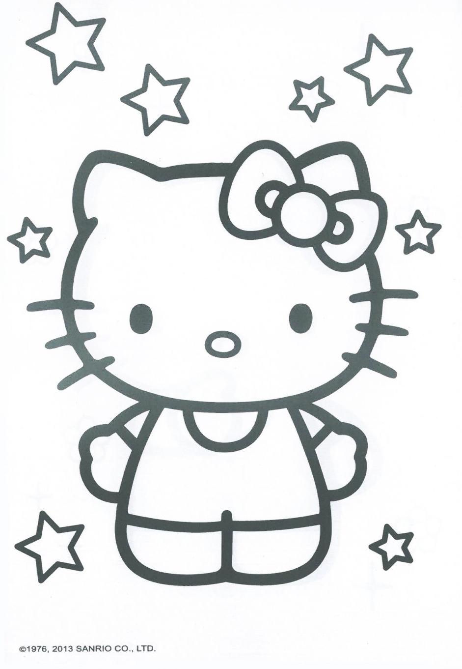 hello kitty著色畫圖案|hello- hello kitty著色畫圖案|hello - 快熱資訊 - 走進時代