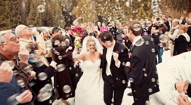 Burbujas en boda