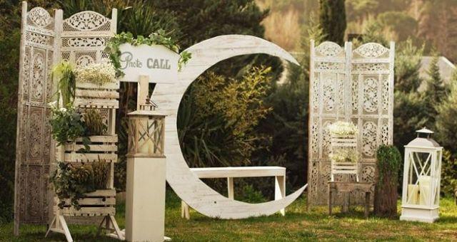 Ideas para un photocall o escenario de boda perfecto