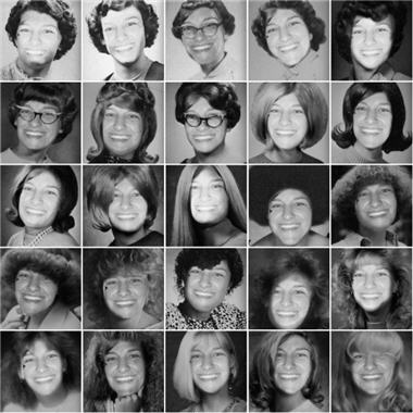 I took the images created from Yearbook Yourself and uploaded them to Mosaic