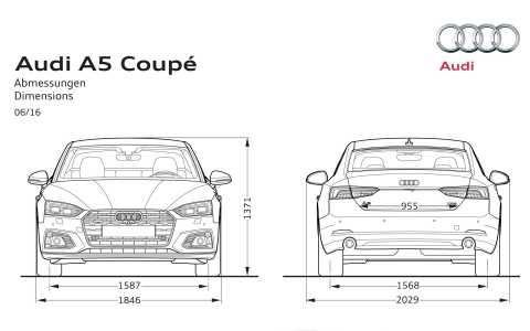 Audi A5 F5 2017 Abmessungen 02