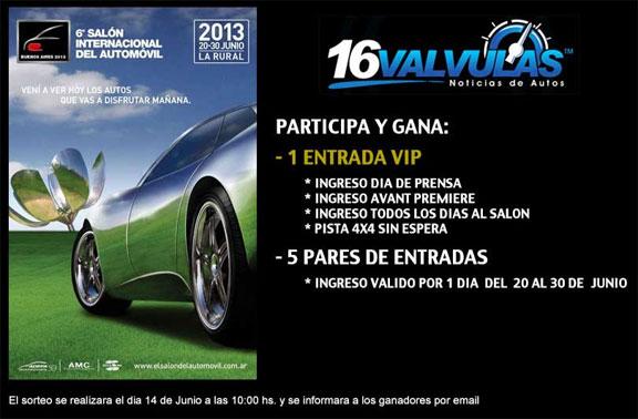 Salon del Automovil de Buenos Aires gana entradas