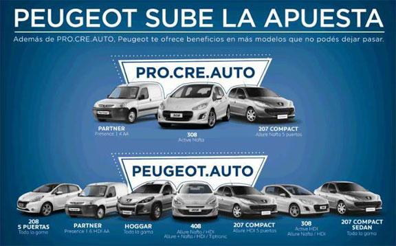 peuge1 Peugeot entregó los primeros autos vendidos a través del Plan Pro.Cre.Auto