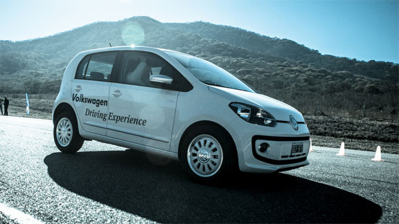 Volkswagen up test driving Experience 2014