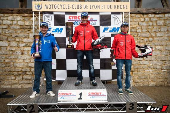 Podium championnat de france supermotard 2016 bresse