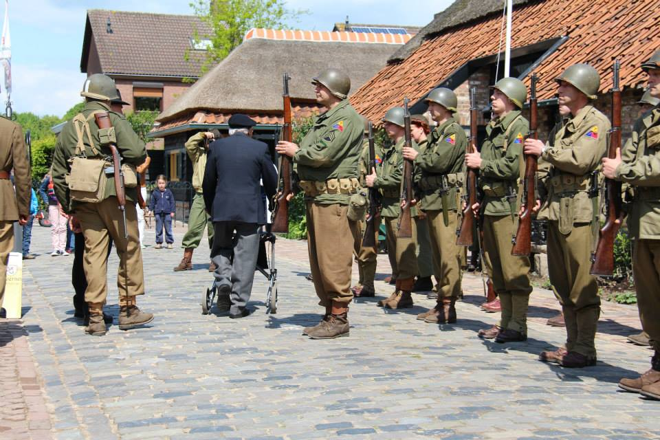 Re-enactment - 17th Armored Engineer Battalion in World War 2