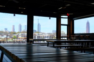 New Realm Brewing overlooks the BeltLine's Eastside trail.