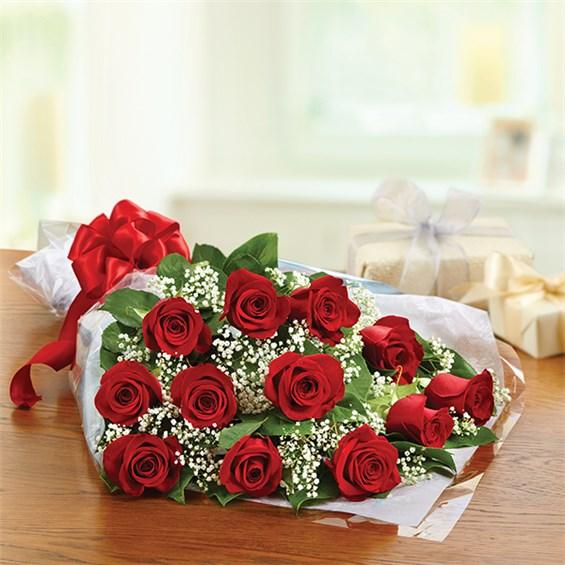 Dozen Rose Presentation Bouquet 1 800 Flowers 4 Gift Seattle