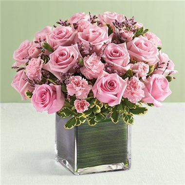 1 800 FLOWERS PINK ROSE FANCY BY REAL SIMPLE 1 800