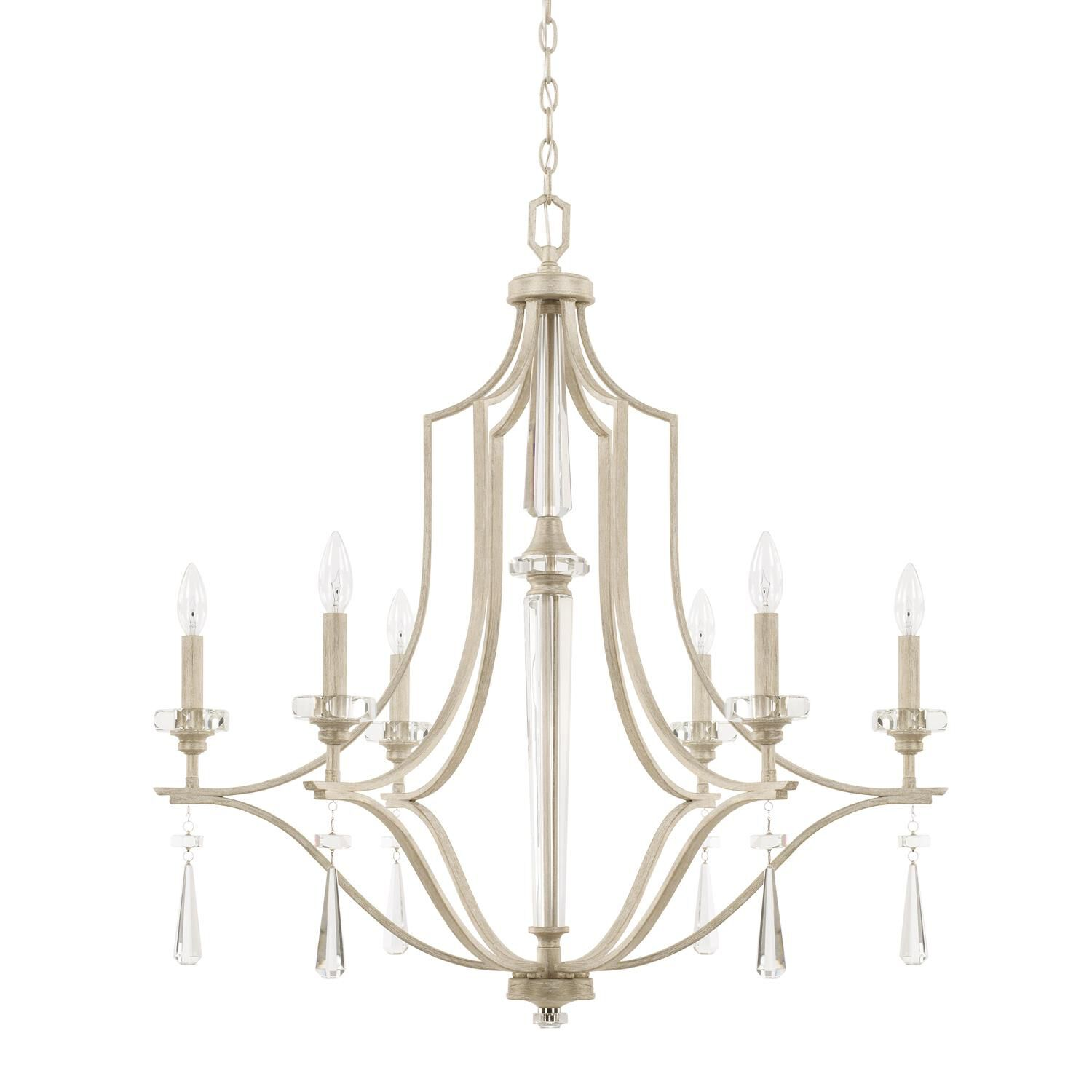 serena 32 inch 6 light chandelier by capital lighting fixture company