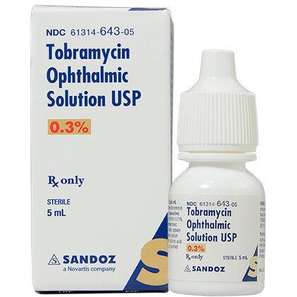 Tobramycin Ophthalmic Solution USP 0.3% - 1800PetMeds