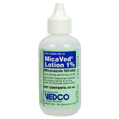 Miconazole Lotion 1%   Free shipping over $49 - 1800PetMeds